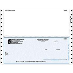"Custom Continuous Multipurpose Voucher Checks For DACEASY®, 9 1/2"" x 7"", 1 Part, Box Of 250"