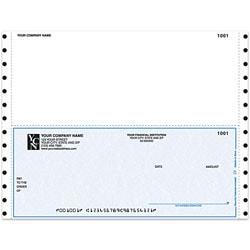 "Custom Continuous Multipurpose Voucher Checks For One Write Plus® / MAS90 / MAS200 / MAS500®, 9 1/2"" x 7"", 2 Parts, Box Of 250"