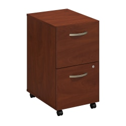 Bush Business Furniture Components Elite 2 Drawer Mobile File Cabinet, Hansen Cherry, Standard Delivery
