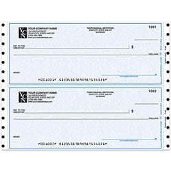 """Custom Continuous Multipurpose Draft Checks For Quicken® / Quickbooks® / Microsoft®, 9 1/2"""" x 3 1/2"""", 2 Parts, Box Of 250"""