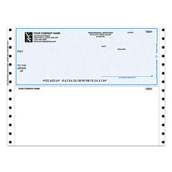"Custom Continuous Multipurpose Voucher Checks For CYMA®, 9 1/2"" x 7"", 2 Parts, Box Of 250"