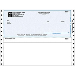 "Custom Continuous Multipurpose Voucher Checks For M.Y.O.B®, 9 1/2"" x 7"", 3 Parts, Box Of 250"