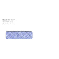 "Custom Single Window Imprinted Envelopes, 3 15/16"" x 8 13/16"", Box Of 250"
