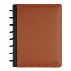 """TUL™ Personalized Custom Note-Taking System Discbound Junior-Size Notebook, 8 1/2"""" x 5 1/2"""", Brown"""