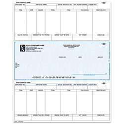 """Custom Laser Payroll Checks For Sage Peachtree®, 8 1/2"""" x 11"""", 1 Part, Box Of 250"""