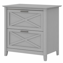 Bush Furniture Key West 2-Drawer Lateral File Cabinet, Cape Cod Gray, Standard Delivery