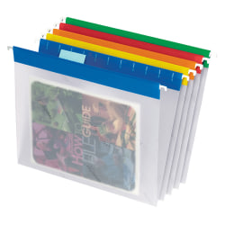 "Pendaflex® Easyview Clear Poly Hanging Folders, 9 1/4"" x 11 3/4"", Assorted, Box Of 25"