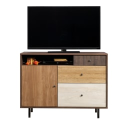"Sauder® Eden Rue Credenza For 47"" Televisions, Spiced Mahogany"