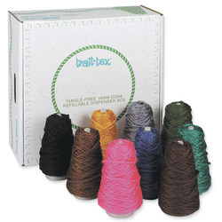 Pacon® Trait-tex 4-Ply Jumbo Roving Yarn Cones, 105 Yd, Assorted Colors, Pack Of 9 Cones