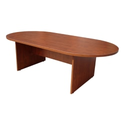 """Boss Office Products 95""""W Wood Race Track Conference Table, Cherry"""