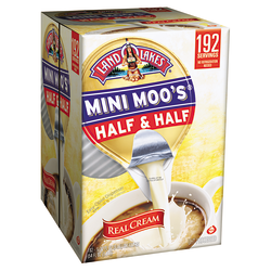 Land O'Lakes Mini Moos Half-And-Half Liquid Coffee Creamer, Original Flavor, 0.28 Oz Single Serve x 192