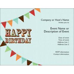 Custom Birthday Invitations 5 12 X 4 14