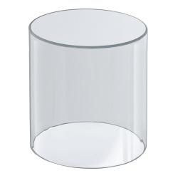 "Azar Displays Acrylic Cylinder, 10"" x 8"", Clear"