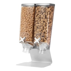 Rosseto Serving Solutions EZ-PRO™ Dry Food Dispenser, Dual Container, Tabletop Stand, 256 Oz, Silver