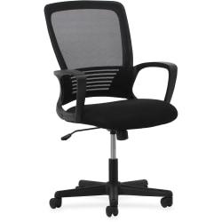 Lorell® Mid-Back Mesh/Sandwich Mesh Chair, Black