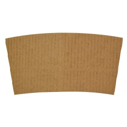 Hotel Emporium Coffee Cup Sleeves, For 10 - 12 Oz Cups, 100% Recycled, Kraft, Case Of 1,000 Sleeves