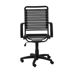 Eurostyle Flat Bungie High-Back Commercial Office Chair, Black