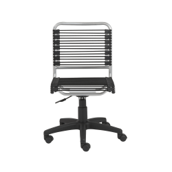 Eurostyle Round Bungie Low-Back Commercial Office Chair, Black/Silver