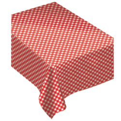 """Amscan Flannel-Backed Table Cover, 52"""" x 90"""", Summer Picnic Gingham"""
