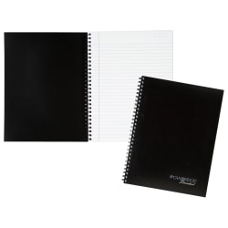 """Cambridge® Limited® 30% Recycled Business Notebook, 7 5/8"""" x 9 1/2"""", 1 Subject, Legal Ruled, 80 Sheets, Legal Ruled, Black"""