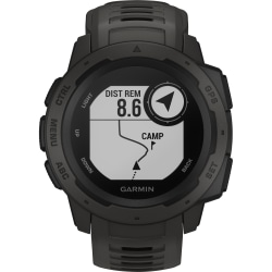 Garmin Instinct Smart Watch - Wrist - Touchscreen - Bluetooth - GPS - 336 Hour - Circular - Graphite - Polymer - Silicone Band