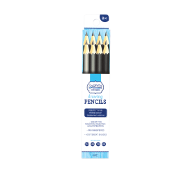 Artskills® Premium Drawing Pencils, 2.5 mm, 2B/2H/6B/HB Hardness, Black, Pack Of 8