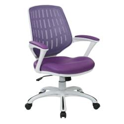 Office Star™ Avenue Six Calvin Mesh Mid-Back Chair, Purple/White