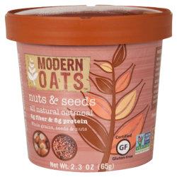 Modern Oats™ Oatmeal Cups, Nuts & Seed, 2.6 Oz, Pack Of 12