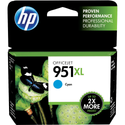 HP 951XL High Yield Original Ink Cartridge, Cyan (CN046AN)
