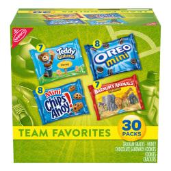 Nabisco Team Favorites Cookies Variety Pack, Box Of 30 Bags