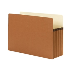 """Smead® Expanding File Pocket With Tear Resistant Gusset, Legal Size, 5 1/4"""" Expansion, 100% Recycled, Redrope, Box Of 10"""