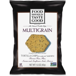 General Mills Multigrain Tortilla Chips - Fat-free, Non-GMO, Gluten-free - 1.50 oz - 24 / Carton