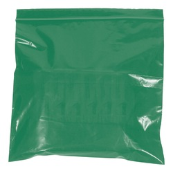 "Office Depot® Brand Colored Reclosable Poly Bags, 2 mils, 6"" x 9"", Green, Case Of 1,000"