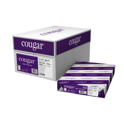 "Cougar® Digital Printing Paper, Ledger Size (11"" x 17""), 98 (U.S.) Brightness, 100 Lb Text (148 gsm), FSC® Certified, 250 Sheets Per Ream, Case Of 6 Reams"