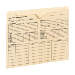 Smead® Employee Record File Jackets, Manila, Pack Of 20