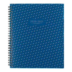 """AT-A-GLANCE® Elevation Academic Weekly/Monthly Planner, 7"""" x 8-3/4"""", Blue, July 2020 to June 2021, 75545P20"""