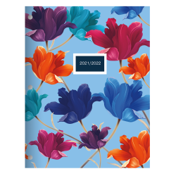 """Office Depot® Brand Fashion Monthly Academic Planner, 8-1/4"""" x 10-3/4"""", Floral, July 2021 To June 2022, ODUS2033-032"""