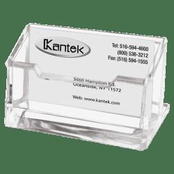 """Kantek Acrylic Business Card Holder, 2"""" x 2 3/8"""" x 4 1/4"""", Clear"""
