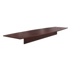 "HON® Preside™ Boat-Shaped Conference Table Top, 168""W, Mahogany"
