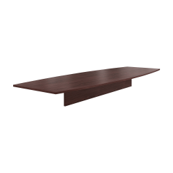 "HON® Preside™ Boat-Shaped Conference Table Top, 144""W, Mahogany"