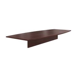 "HON® Preside™ Boat-Shaped Conference Table Top, 120""W, Mahogany"