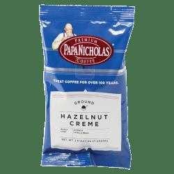 PapaNicholas Coffee Hazelnut Crème Coffee Single-Serve Packets, 2.5 Oz, Carton Of 18