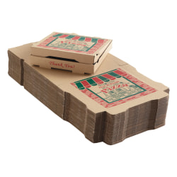 """ARVCO Corrugated Pizza Boxes, 12"""" x 12"""" x 1 3/4"""", Kraft, Pack Of 50 Boxes"""