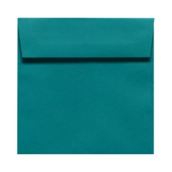 """LUX Square Envelopes With Peel & Press Closure, 6 1/2"""" x 6 1/2"""", Teal, Pack Of 1,000"""