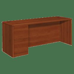 HON® 10700 Series Laminate Left-Pedestal Credenza, Cognac
