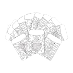 """Barker Creek Peel & Stick Library Pockets, 3"""" x 5"""", Color Me Bohemian Animals, Pack Of 60 Pockets"""