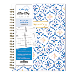 """Blue Sky™ Noteworthy Weekly/Monthly Planner, 7"""" x 9"""", Fortuna, July 2020 To June 2021, 119024"""