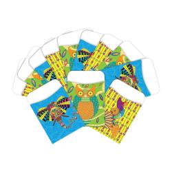 "Barker Creek Peel & Stick Library Pockets, 3"" x 5"", Boho Animals, Pack Of 60 Pockets"