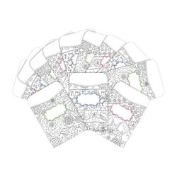 "Barker Creek Peel & Stick Library Pockets, 3"" x 5"", Color Me Garden, Pack Of 60 Pockets"