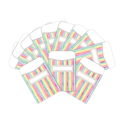 "Barker Creek Peel & Stick Library Pockets, 3"" x 5"", Stripes, Pack Of 60 Pockets"